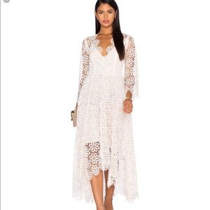 Like new Zimmermann lace dress blush natural